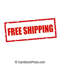free shipping wording on chipped rectangular signs