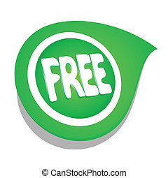 Free sign - Design of green free sign