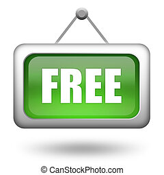 Free sign on white background