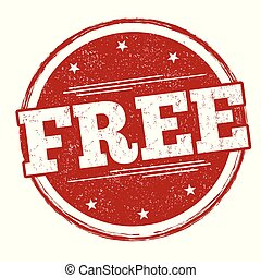 Free sign or stamp