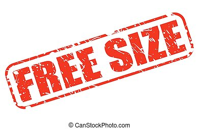 Free size red stamp text