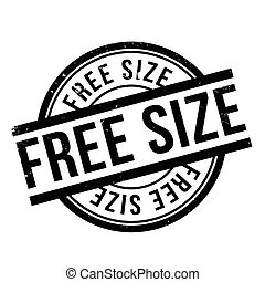 Free Size rubber stamp