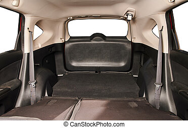 Free space in SUV car trunk