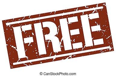free square grunge stamp
