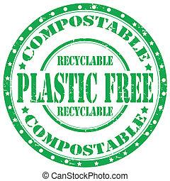 free-stamp, plastique