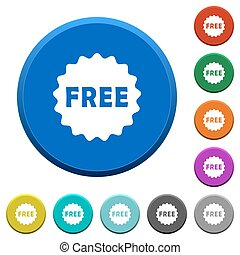 Free sticker beveled buttons