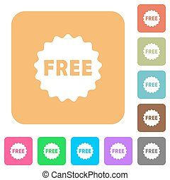Free sticker rounded square flat icons