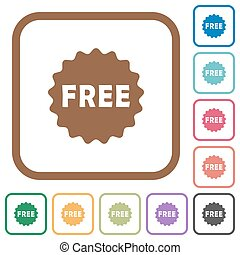 Free sticker simple icons