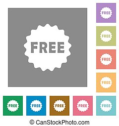 Free sticker square flat icons
