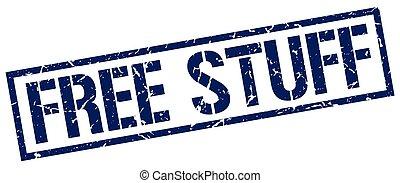 free stuff blue grunge square vintage rubber stamp