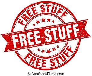 free stuff round grunge ribbon stamp