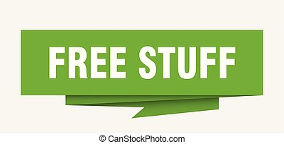 free stuff sign. free stuff paper origami speech bubble....