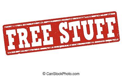 Free stuff stamp - Free stuff grunge rubber stamp on white...