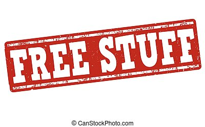 Free stuff stamp - Free stuff grunge rubber stamp on white...