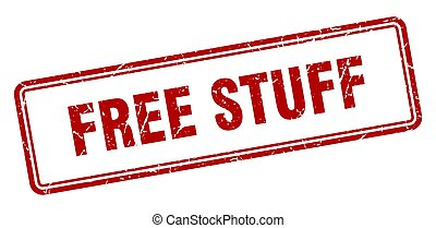 free stuff stamp. square grunge sign on white background