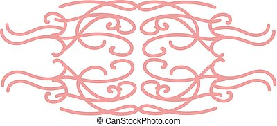 Free style natural ornament design, illustration, vector on white background.
