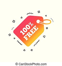 Free tag icon. Shopping special offer sign. Vector