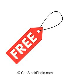 Free Tag Icon White Background Vector Image