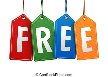 free tag isolated