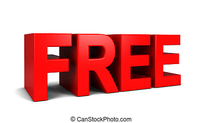 Free text. 3d illustration isolated on white background