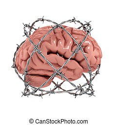 Free thought, censorship concept