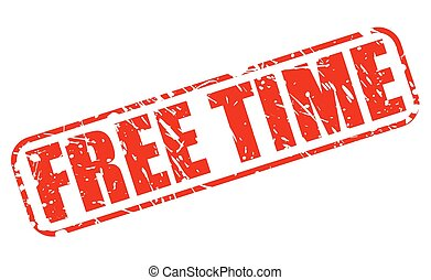 Free time red stamp text on white