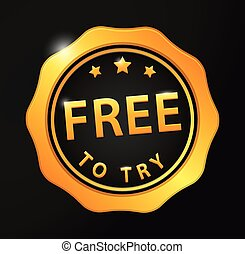 Free to try golden badge