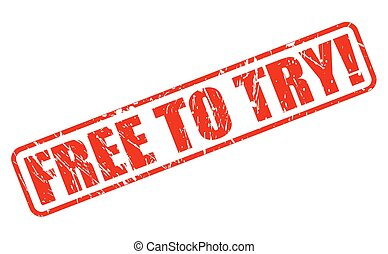 Free to try red stamp text