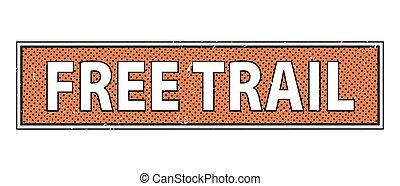 Free trail stamp text on white Background vector illustration