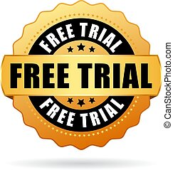Free trial badge icon