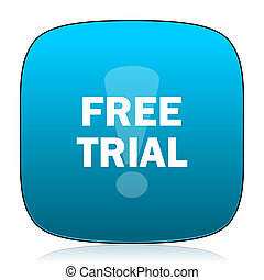 free trial blue icon