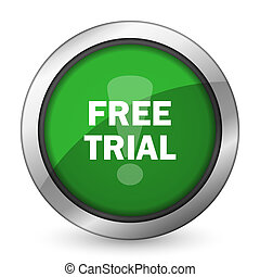 free trial green icon