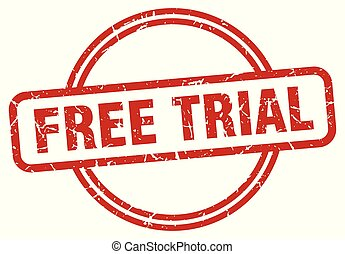 free trial grunge stamp - free trial round vintage grunge...