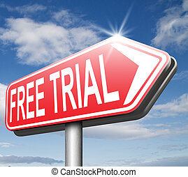 free trial membership or product promotion download and try ...