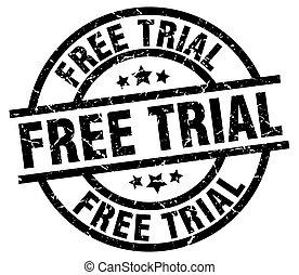 free trial round grunge black stamp