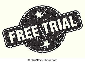 free trial round grunge isolated stamp