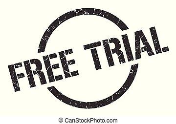 free trial stamp - free trial black round stamp