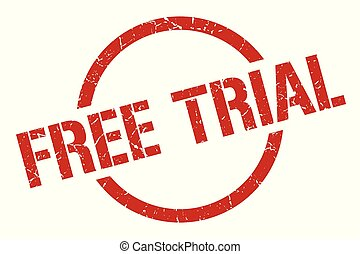 free trial stamp - free trial red round stamp
