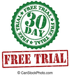 Free trial stamps - Free trial grunge rubber stamps on...