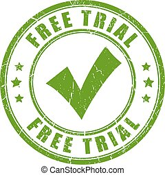 Free trial tick rubber stamp