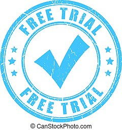 Free trial vector stamp