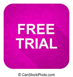 free trial violet flat icon, christmas button