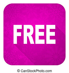 free violet flat icon, christmas button