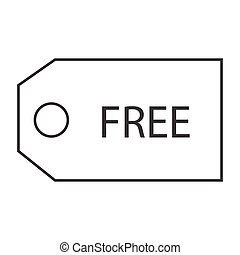 free voucher - simple thin line free voucher icon vector