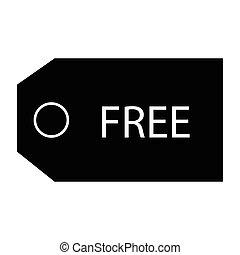 free voucher - simple flat black free voucher icon vector