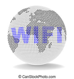 Free Wifi Anywhere Wireless Coverage 3d Illustration