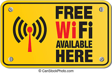 free wifi available here - rectangl