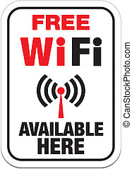free wifi available here sign