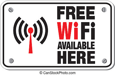 free wifi available here signs
