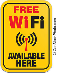 free wifi available here - yellow
